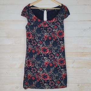 4/$30 Guess Dress Floral Cap Sleeved Scoop
